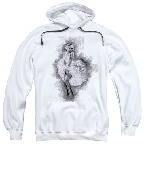 Marilyn Monroe Portrait 03 Sweatshirt by Pablo Romero
