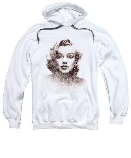 Marilyn Monroe Portrait 04 Sweatshirt by Pablo Romero