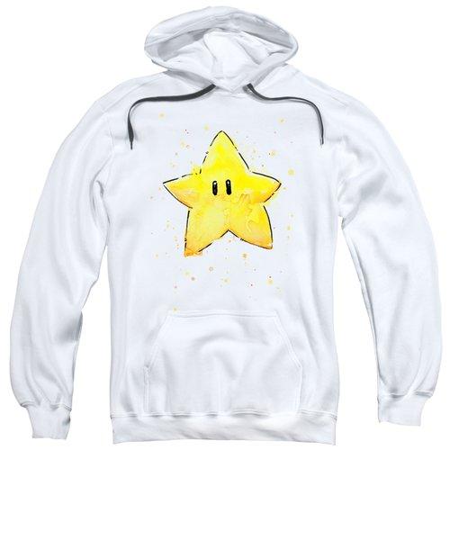 Mario Invincibility Star Watercolor Sweatshirt