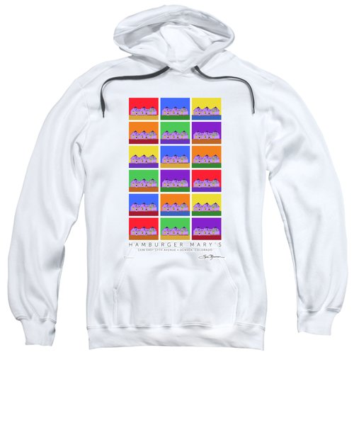 Sweatshirt featuring the digital art Mary's Signed by Sam Brennan