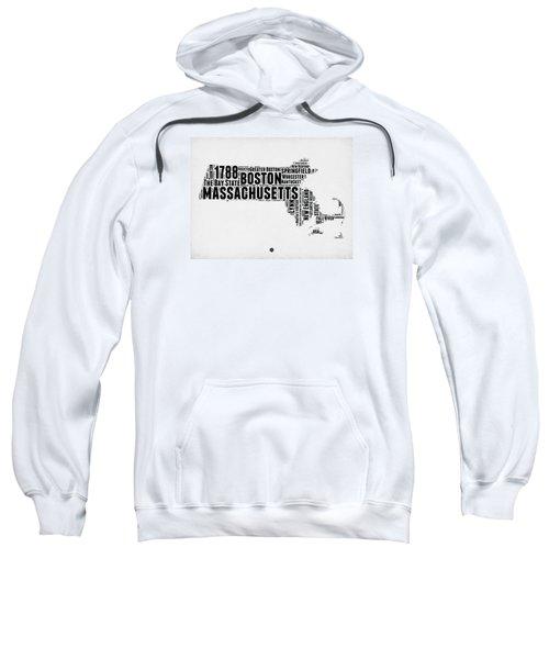 Massachusetts Word Cloud Map 2 Sweatshirt