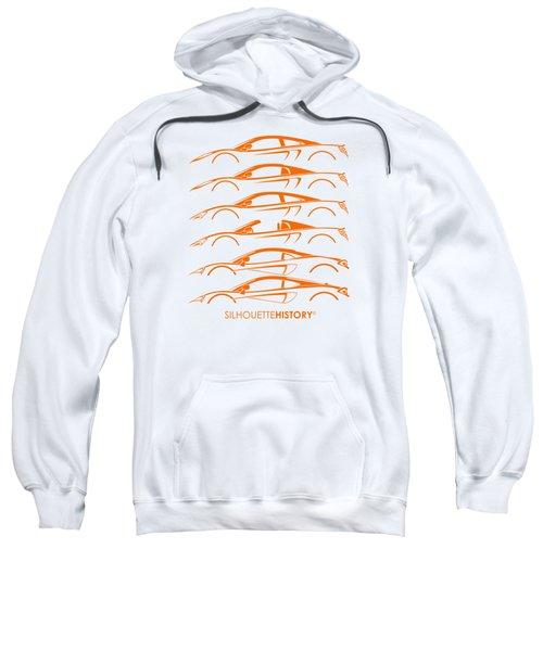 Mcsportscar Silhouettehistory Sweatshirt by Gabor Vida