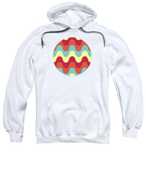 Melting Colors Pattern Sweatshirt