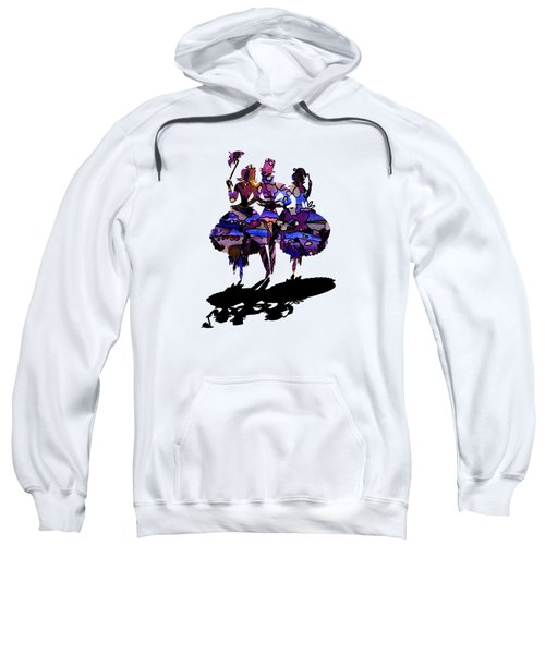 Menage A Trois On Transparent Background Sweatshirt