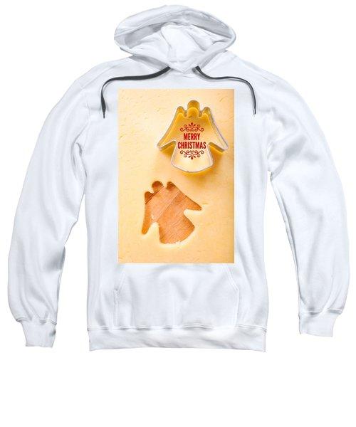 Merry Christmas Angel Cookie Cutter Sweatshirt