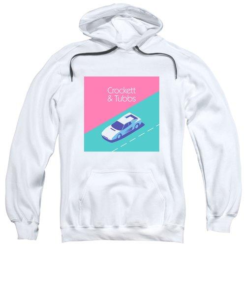 Miami Vice Crockett Tubbs - Magenta Sweatshirt