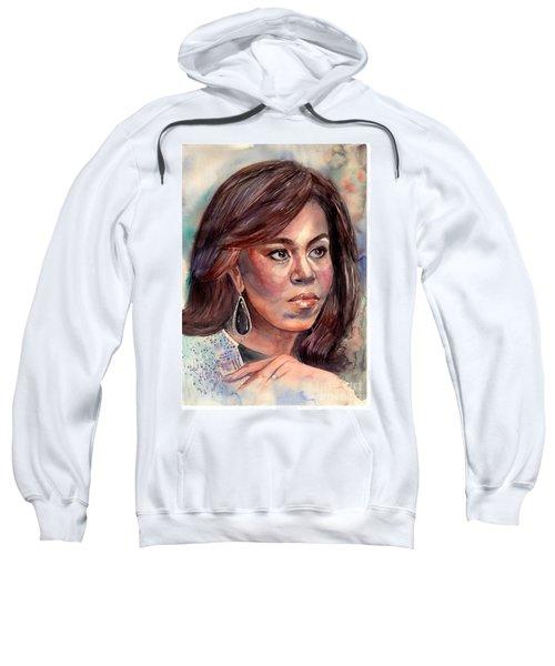 Michelle Obama Portrait Sweatshirt