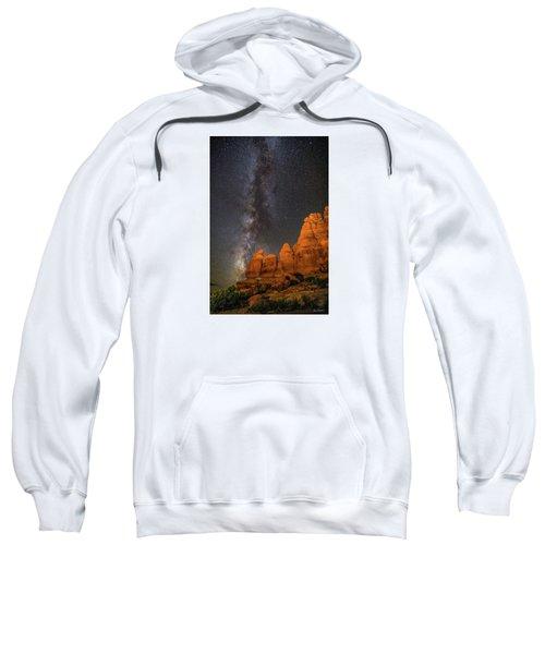 Milky Way And Navajo Rocks Sweatshirt