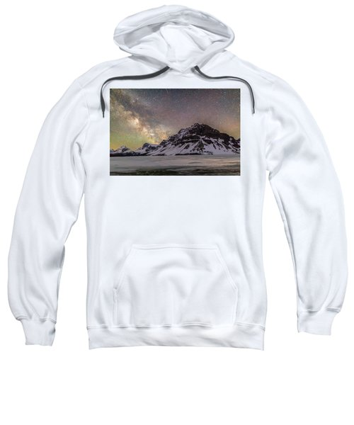 Milky Way Over Crowfoot Mountain Sweatshirt