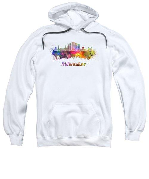 Milwaukee V2  Skyline In Watercolor Sweatshirt