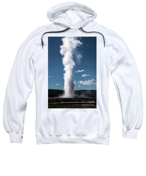 Sweatshirt featuring the photograph Old Faithful Eruption by Mae Wertz