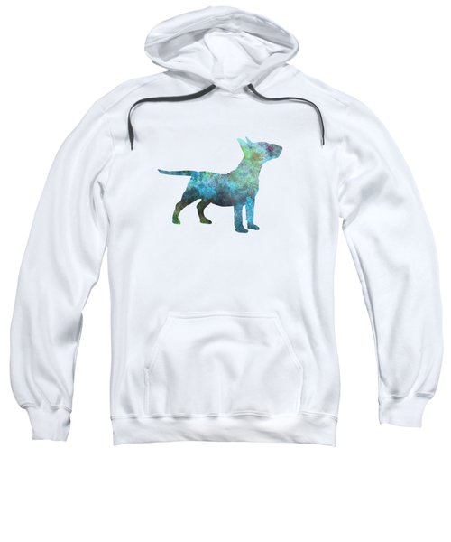 Miniature Bull Terrier In Watercolor Sweatshirt