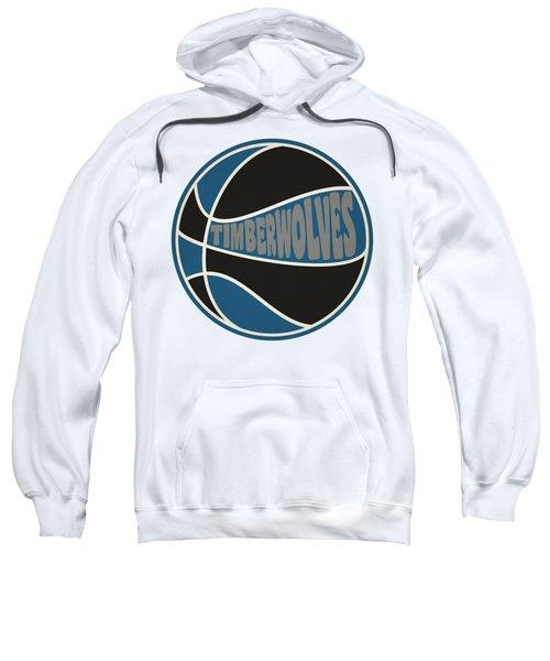 Minnesota Timberwolves Retro Shirt Sweatshirt by Joe Hamilton