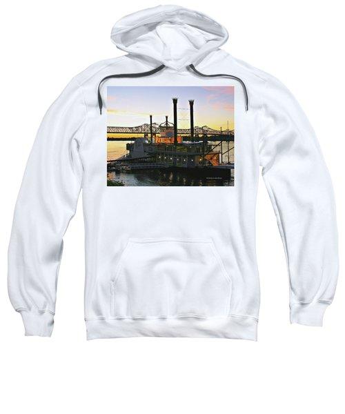 Mississippi Riverboat Sunset Sweatshirt