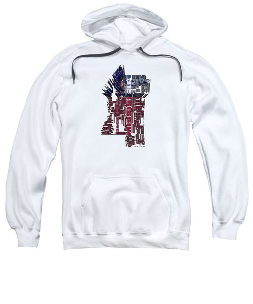 Mississippi Typographic Map 4b Sweatshirt