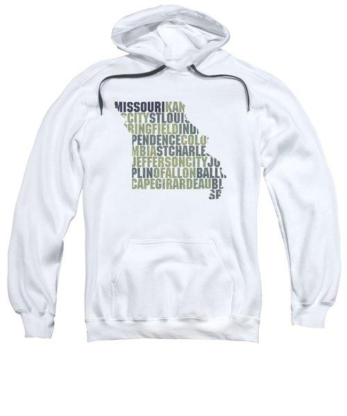Missouri State Outline Word Map Sweatshirt