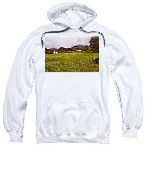 Misty Autumn At The Farm Sweatshirt