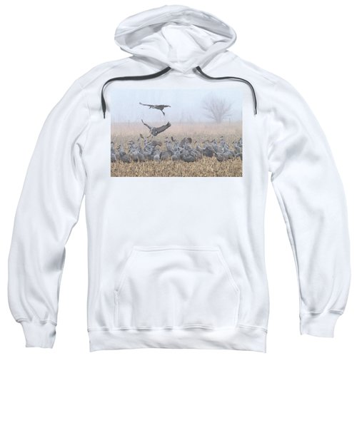 Misty Morning Nebraska Landing Sweatshirt