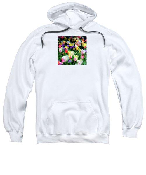 Mixed Tulips In Bloom  Sweatshirt