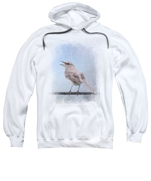 Mockingbird In The Snow Sweatshirt by Jai Johnson
