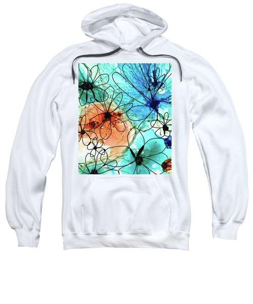 Modern Floral Art - Wild Flowers2 - Sharon Cummings Sweatshirt