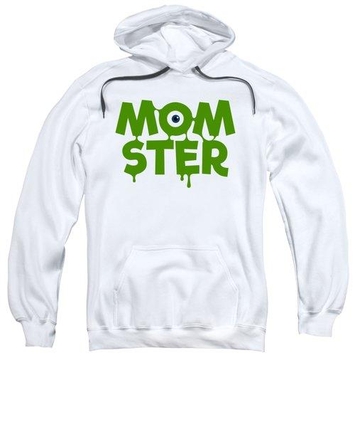 Momster Halloween Funny Monster For Mom And Women Humor Halloween Easy Costume Office Parties Sweatshirt