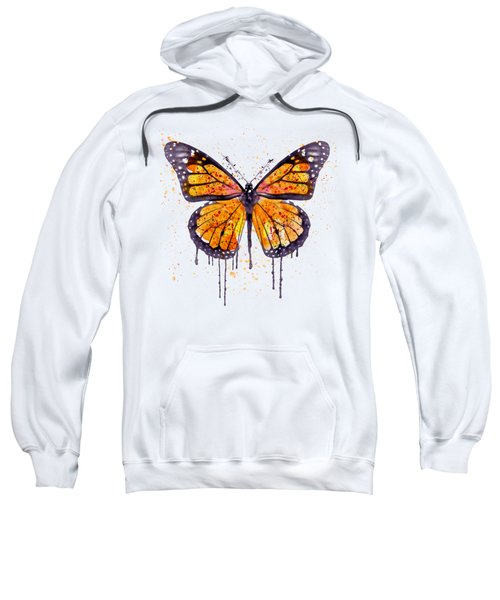 Monarch Butterfly Watercolor Sweatshirt