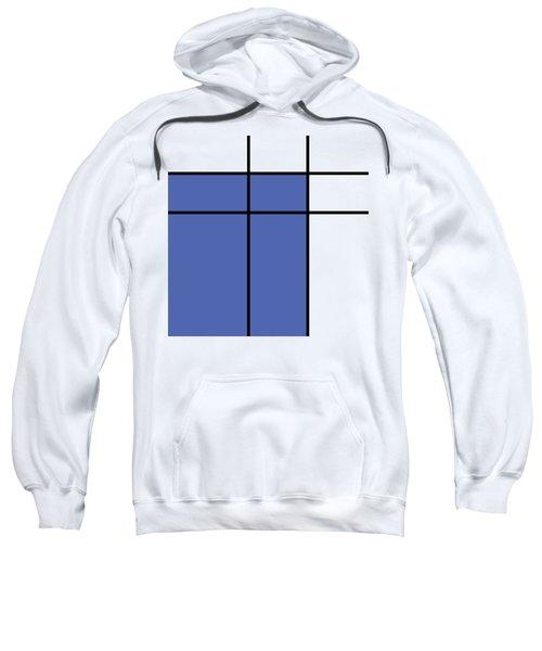 Mondrian Style Minimalist Pattern In Blue Sweatshirt