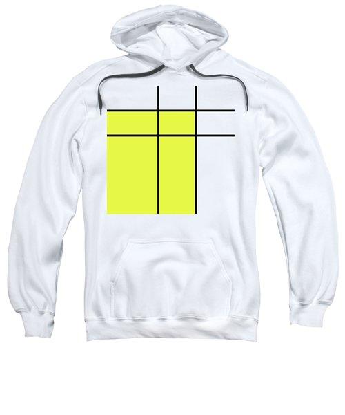 Mondrian Style Minimalist Pattern In Yellow Sweatshirt