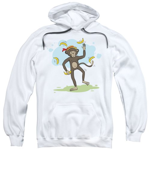 Monkey Juggling Bananas Sweatshirt