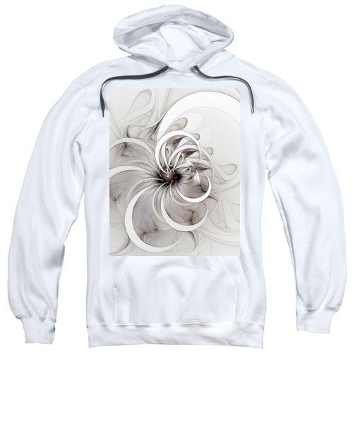 Monochrome Flower Sweatshirt