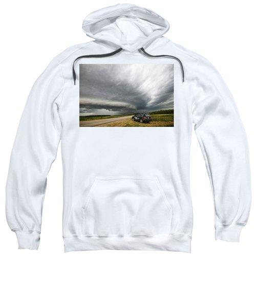 Monster Storm Near Yorkton Sk Sweatshirt