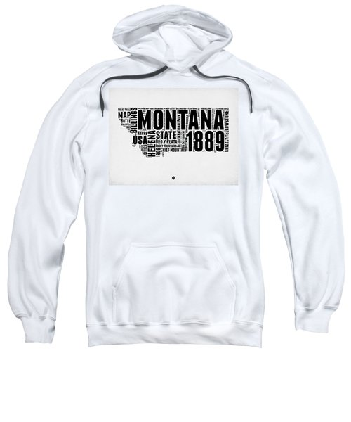 Montana Word Cloud 2 Sweatshirt