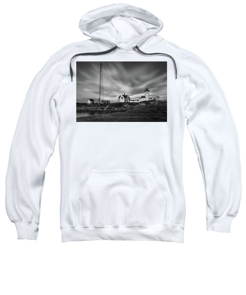Moody Sky At Eastern Point Lighthouse Sweatshirt
