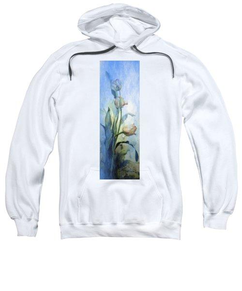 Sweatshirt featuring the painting Moody Tulips by Hanne Lore Koehler