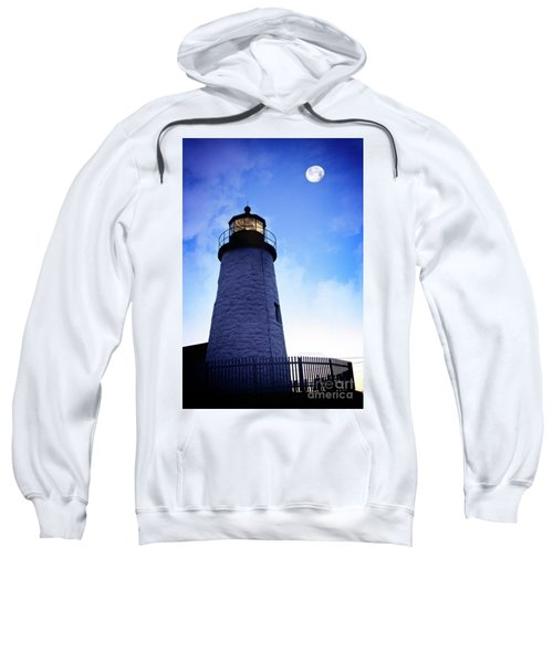 Moon Over Lighthouse Sweatshirt