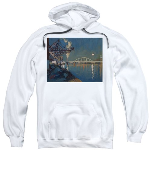 Moon Over The Railway Bridge Maastricht Sweatshirt