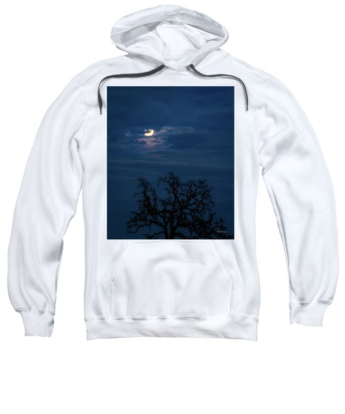 Moonlight Through A Blue Evening Sky Sweatshirt