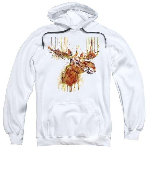 Moose Head Sweatshirt by Marian Voicu
