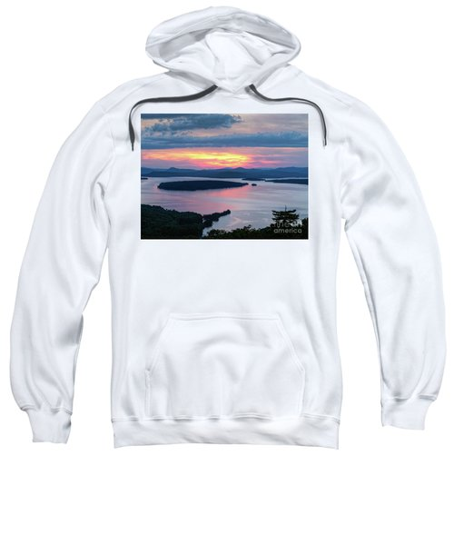 Mooselookmeguntic Lake In The Last Light Of Day - Rangeley Me  -63430 Sweatshirt
