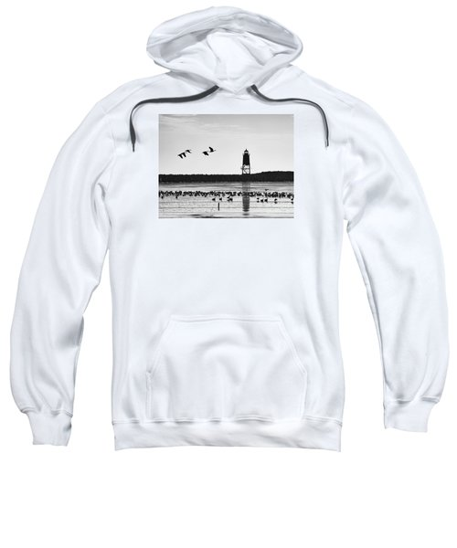 Sweatshirt featuring the photograph Morning At Racine Lakefront by Ricky L Jones