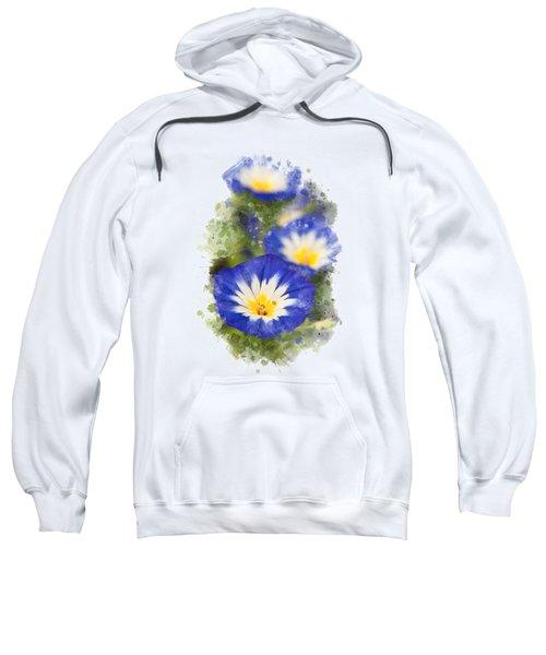 Morning Glory Watercolor Art Sweatshirt