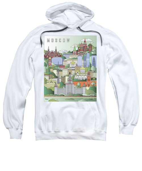 Moscow City Poster Sweatshirt by Pablo Romero