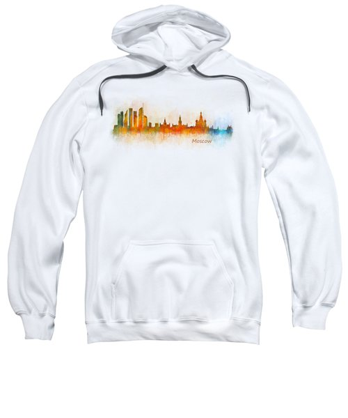 Moscow City Skyline Hq V3 Sweatshirt by HQ Photo