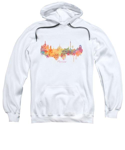 Moscow Russia Skyline City Sweatshirt by Justyna JBJart