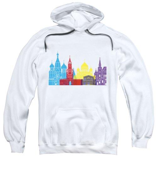 Moscow Skyline Pop Sweatshirt by Pablo Romero