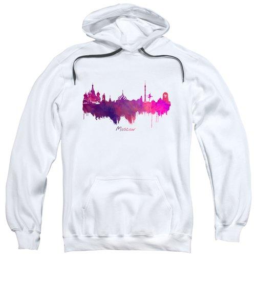 Moscow Skyline Purple Sweatshirt by Justyna JBJart