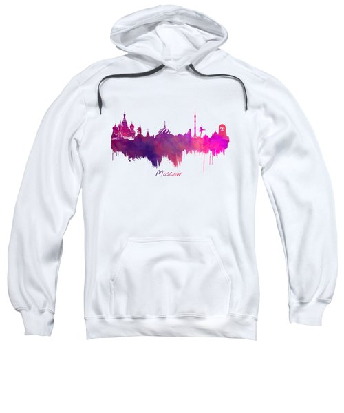Moscow Skyline Purple Sweatshirt