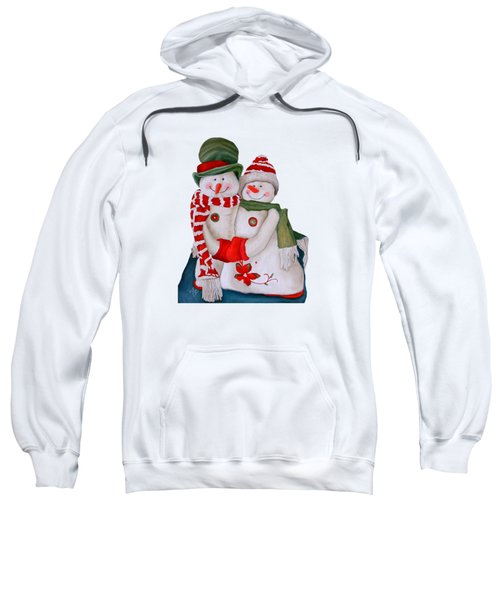 Mr. And Mrs. Snowman Sweatshirt