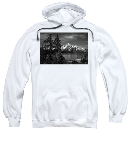 Sweatshirt featuring the photograph Mt. Moran And Trees by Stephen Holst